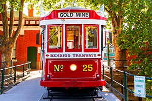 Vintage Talking Tram Tour departing from Bendigo Tramways Depot