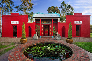 Bendigo Joss House Temple Bright Red Exterior